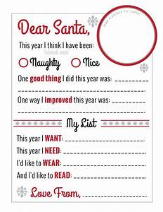 amazing quotdear santaquot christmas wish list printable free With amazing santa letters