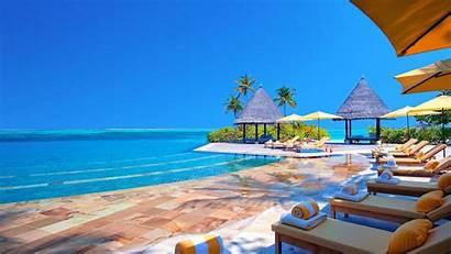 Tropical Resort Vacation Caribbean Pool Swimming Lagoon