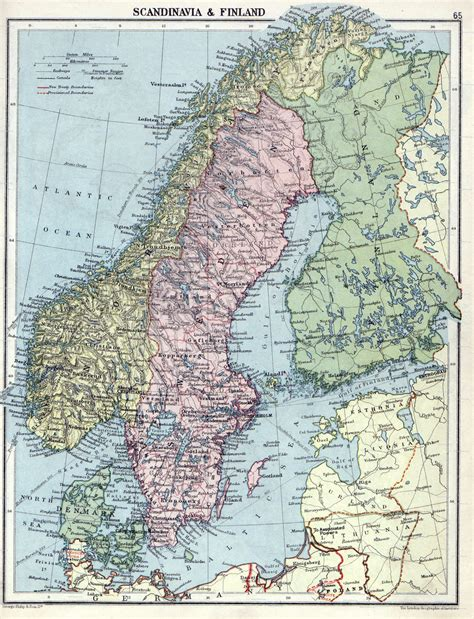 large detailed  political map  scandinavia