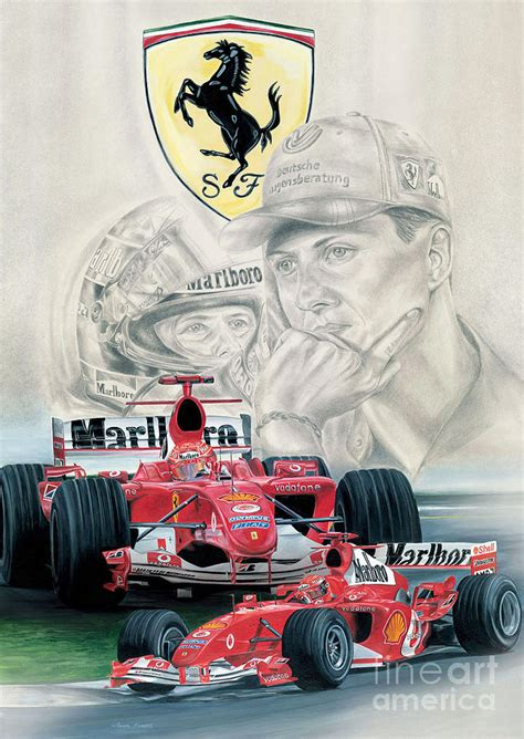 classic schumacher painting  michael rogers