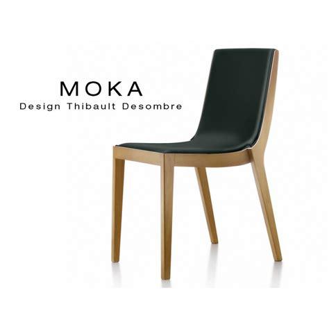 lot de chaises design chaise design bois moka assise et dossier garnis habillage cuir naturel lot de 6 chaises