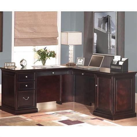 l shaped desk in espresso kathy ireland home by martin fulton l shaped computer desk