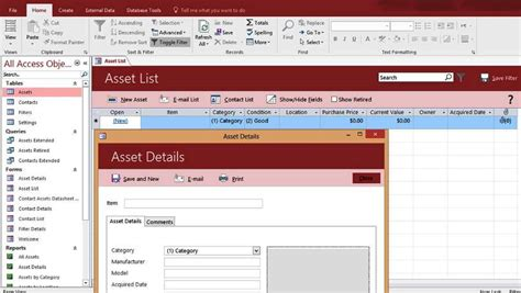 Microsoft Office Database Templates by Microsoft Access Templates And Database Exles