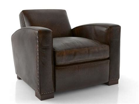 library leather chair 3d model restoration hardware