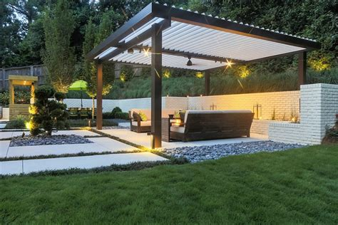 modern patio cover all new equinox louvered roof system patio cover contemporary design alumawood factory direct