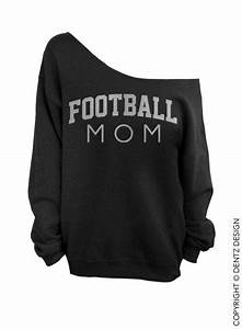 Football Mom Oversized Off The Shoulder Sweatshirt