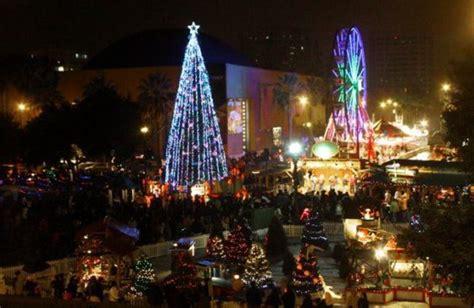 christmas   park opening  foot tree lighting