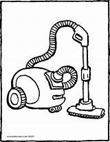 Vacuum Cleaner Coloring Colouring Hoover Drawing Kiddicolour Printable Getcolorings Receiver Mail sketch template