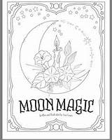 Coloring Pagan Pages Adult Shadows Wicca Goddess Triple Books Colouring sketch template