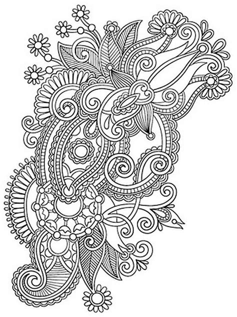 intricate coloring pages  adults  printable intricate coloring pages