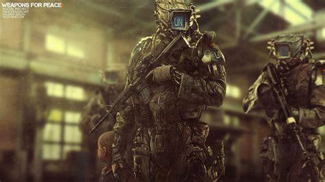 robot soldier machine futuristic gun artwork digital