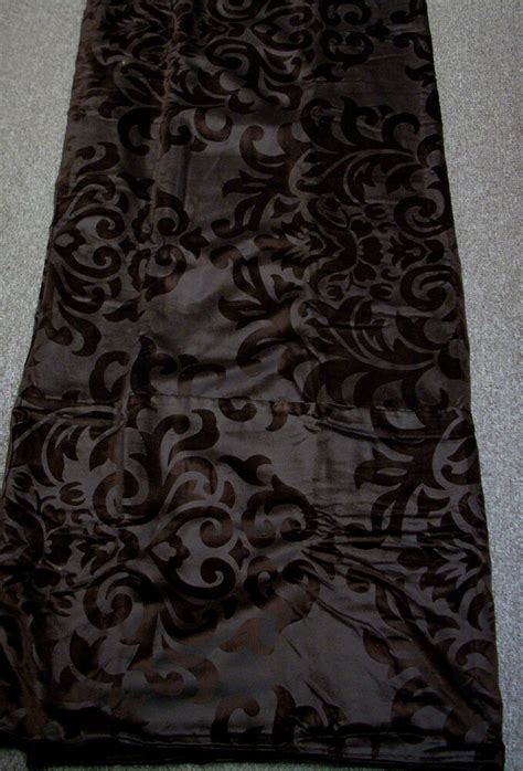 Chocolate Brown Duvet Covers by Bellora Chocolate Brown Cotton Blend Velvet Damask