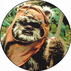 Star Wars Wicket Ewok Close Up Button