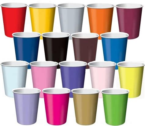 color cup paper coloured cups 10 x 12oz 355ml plus sm5