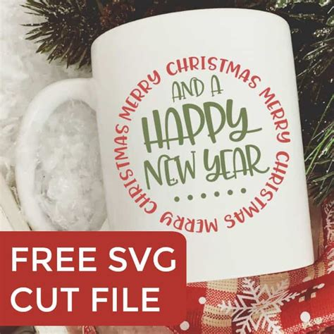 Be blessed, merry christmas and happy new year! Free Merry Christmas & Happy New Year SVG Cut File ...