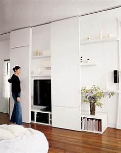les 25 meilleures idees de la categorie placard cache sur With meuble pour cacher tv