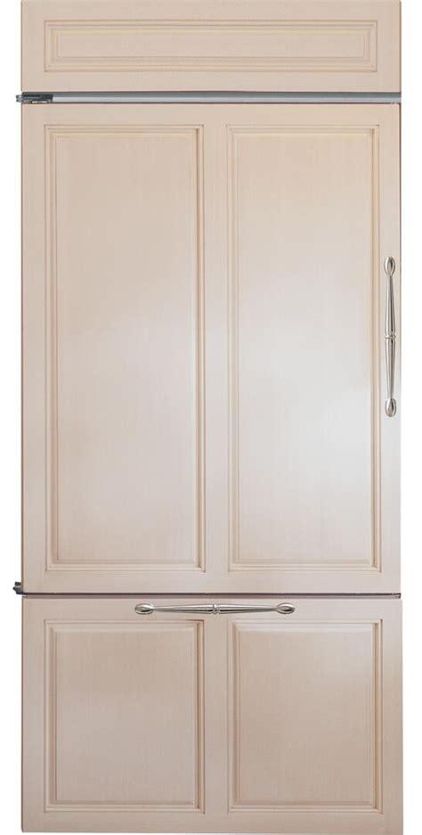 ge monogram zicnhlh   panel ready counter depth bottom freezer refrigerator