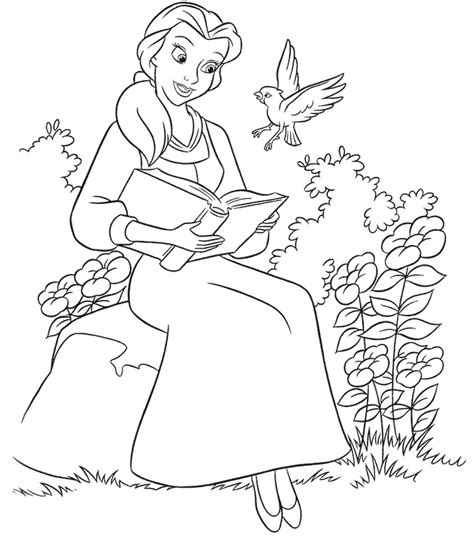 printable beauty   beast coloring pages