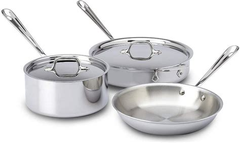 cookware clad stainless steel ply bonded safe tri pots pans dishwasher piece silver chefs induction expensive amazon rated pan food