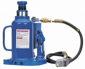 Westward 8 2 X 7 4 U0026quot  Air  Manual Steel Bottle Jack With
