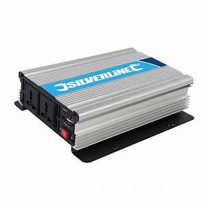 Silverline 168754 1000w 12v Dc 230v Ac Power Inverter