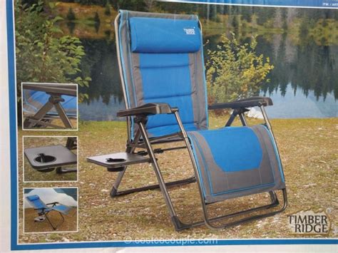 Timber Ridge Folding Lounge Chair by Zero Gravity Chair Costco Www Pixshark Images