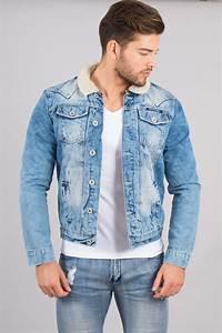 Veste En Jean Doublée Mouton Femme : veste en jeans homme col mouton 6059 pour ~ Melissatoandfro.com Idées de Décoration