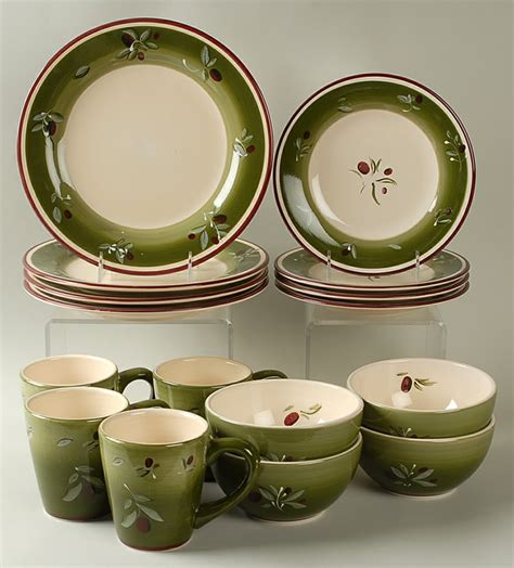 better homes and gardens dinnerware better homes gardens olive villa 16 piece set replacements ltd
