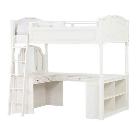 pottery barn loft bed with desk chelsea vanity loft bed