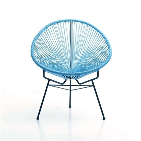 siege de jardin fauteuil de jardin design bleu soleil lestendances fr
