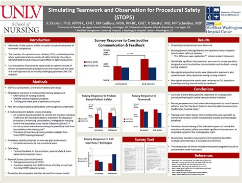 stops research poster  clinical simulation