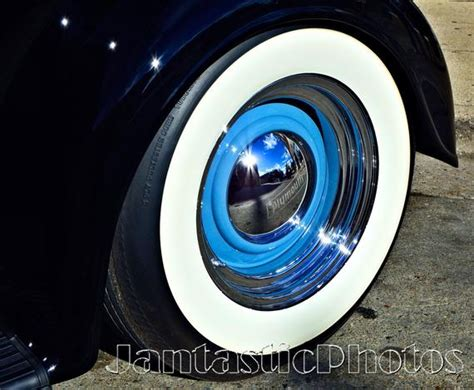 Plymouth Whitewall Photograph Classic Car Tire Hubcap Instant
