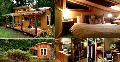 Tiny House Tour Perfectly Rustic Tiny Mountain Log Cabin