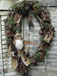 1000 images about Primitive Folk Art Santa s and