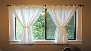 Window Treatments For Short Windows Short Window Curtains
