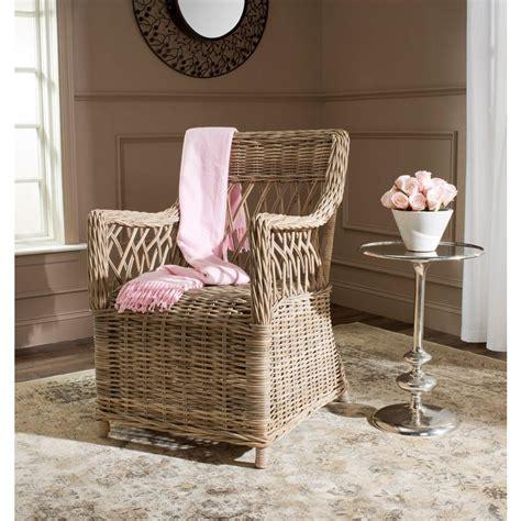 Safavieh Wicker Chairs by Safavieh Hinaku Rattan Arm Chair Fox1603a The