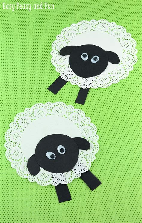 doily sheep craft easy peasy and 161 | Doily Sheep Craft