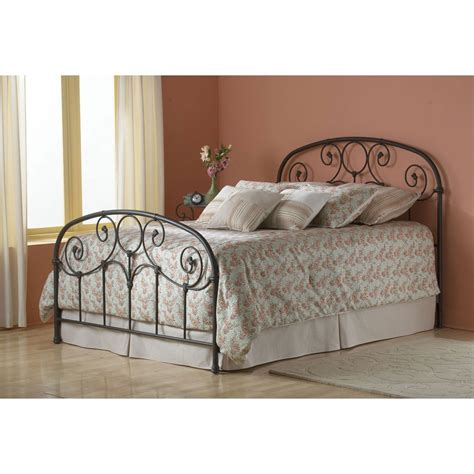 Black Leather Headboard Double by Grafton Iron Bed In Rusty Gold Humble Abode