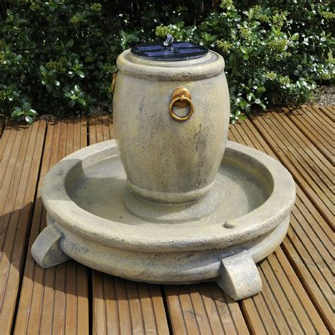 balmoral solar powered water feature with led lights 163 159 99