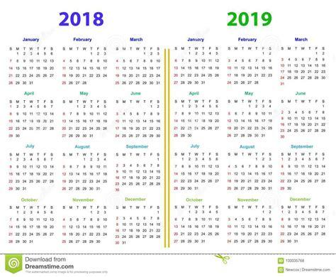 meses de diseno del calendario ilustracion del vector