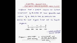 Total Cash Flow Payback Period Example 2 Uneven Cash Flow Youtube