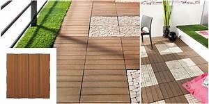 Dalle Terrasse Clipsable : dalle terrasse composite pas cher ~ Melissatoandfro.com Idées de Décoration
