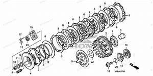 Honda Motorcycle 2010 Oem Parts Diagram For Clutch