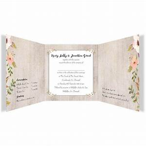 Rustic horizon tri fold wedding invitations loving for Rustic horizon wedding invitations