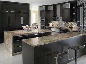 Elegant kitchen with tiberius gold granite countertops for Modern kitchen designs with granite