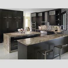Elegant Kitchen With Tiberius Gold Granite Countertops