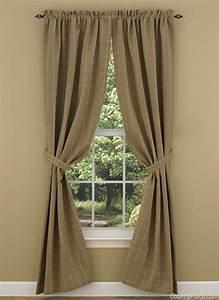 Cobblestone Lined Window Tieback Curtain Panels