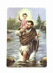 Saint Christophe Patron : st christopher patron of travelers wallet prayer card the acts mission store ~ Medecine-chirurgie-esthetiques.com Avis de Voitures