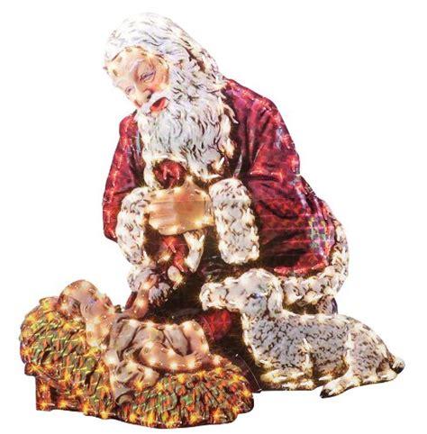 kneeling santa yard art findgift com