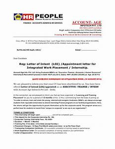 Letter of intent loi appointment letter